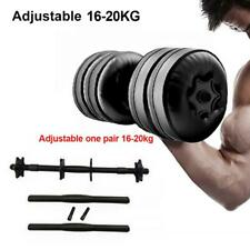 Water-filled Dumbbell Weight Gym Lifting Workout Adjustable Home Travel Fitness