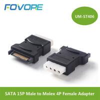 15Pin Sata Serial ATA Male to Molex IDE 4 Pin Female M-F Hard Drive Adapter