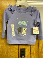 New with tags toddler girl purple sweatshirts size 24 months