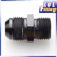 """AN -10 AN 10 -10 AN Male to 1/2"""" BSP BSPP Straight Adapter Aluminum Black"""