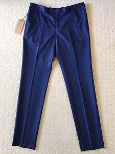 Wolf Kanat Men Suit Pants New Blue (36/33)