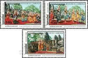 45 y.of independence: Dance of Apsaras at Prasat Bayon Temple (MNH)