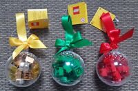 LEGO Holiday Seasonal Christmas Bauble Brick Ornaments 2011 GOLD or GREEN or RED