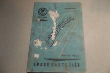 CZ 1958 Model 501 175CC Parts List Manual