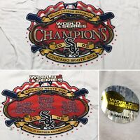 2005 WORLD SERIES CHAMPIONS CHICAGO WHITE SOX XL Locker Room T Shirt Majestic