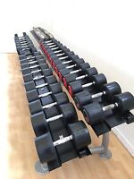 Hammer Strength Polyurethane Commercial Dumbbell Set *No Rack* (2-40kg) 23 Pairs