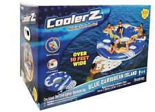 New Bestway CoolerZ Blue Caribbean Inflatable Floating Island 6 Person Over 10FT