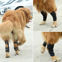 1 Pair Dog Leg Brace Hock Joint Knee Support Rear Therapeutic Pet W A*