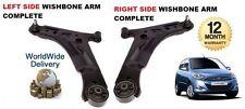 Para Hyundai I10 2008 - & gt 2x inferior izquierdo y derecho de suspensión Wishbone Brazo rótula