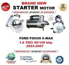 Para Ford Focus C-Max 1.6 TDCi 90/109 BHP 2003-07 Motor De Arranque Nuevo 1.2 kW 11 dientes