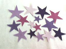 FELT  stars purples colours x 15  applique card making sewing craft