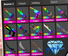 💎READ DESC💎 CHROMA GODLY KNIFES, GUNS WEAPONS MM2 Murder Mystery 2 Roblox