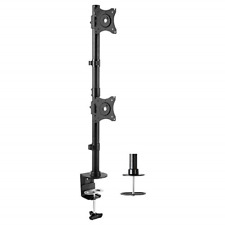 VIVO Dual Computer Monitor Desk Mount Stand Vertical Array for 2 Screens up to