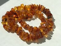 Natural Vintage Amber Beads Antique Baltic Old Necklace 40,89 gr.