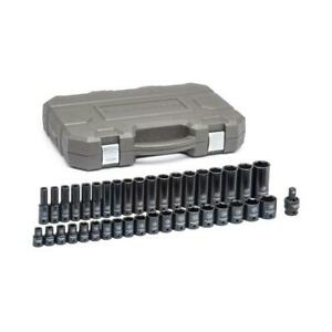 GEARWRENCH Impact Socket Set Metric Corrosion Resistance 1/2 in Drive (39-Piece)