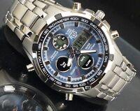 R&G Uhr Herrenuhr Multifunktion Wasserdicht Military Watch Alarm Chrono BOX b+