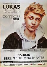 Lukas Rieger 2016 Berlin-orig. Concert Poster -- CONCERT AFFICHE a1 NEUF