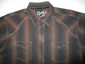 Wrangler Rock 47 Snap Button Western Shirt Men's XL
