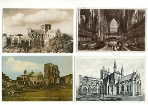 80 VINTAGE postcards:  GB UK CHURCHES CATHEDRALS ABBEYS