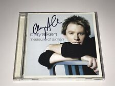 Clay Aiken Rare Signed Cd Measure Of A Man Invincible American Idol Free Shippin