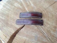 Breitling Watch Strap 20x18mm HANDMADE distressed dark brown