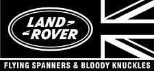 LAND ROVER FLYING SPANNERS AND BLOODY KNUCKLES STICKER DECAL GRAPHIC FREE POST