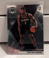 2019-20 Panini Mosaic Zion Williamson Base 209 ROOKIE RC Pelicans