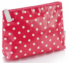 Retro Vintage Style Red Polka Dot Make Up Bag - Cosmetics Pouch / Pencil Case