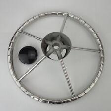 Marine Boat Stainless Steel 13.5'' Steering Wheel Knurling 5 Spokes Kayak/Yacht