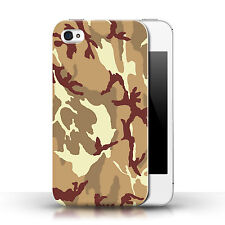 Stuff4 Phone Case/back Cover for Apple iPhone 4s /army/navy/camouflage Brown 4