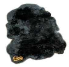 Shaggy Faux Fur Sheepskin Pelt Rug Black Shag