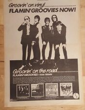 Flamin Groovies tour 1978 press advert Full page 28 x 39 cm poster