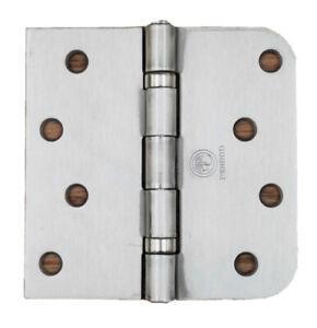 Hoffen 2Pcs Marine Grade Stainless Steel Door Hinge Strap Floor Hinges Round Side 4 X 1.5 Hinge