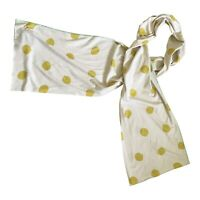 Paul Smith Mens Yellow DOT scarf  185 x 30 cm