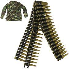 KIDS PLASTIC TOY BULLET BELT SASH BOYS GIRLS ARMY SOLDIER ROLE PLAY FANCY DRESS