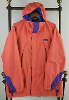 VTG 2001 PATAGONIA Large Mens Salmon Hooded Nylon Jacket Ski Shell Full Zip