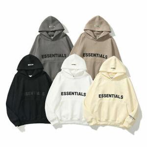 Mens Womens FEAR OF GOD ESSENTIALS Hoodie Couple Sweater FOG Pullover Sweatshirt