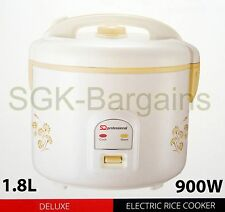 1.8L ELECTRIC AUTOMATIC RICE COOKER WARMER POT GLASS LID NON STICK 10 CUPS GL