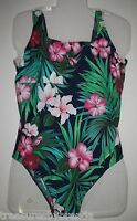 Maternity Bathing Suit Lands End Swimsuit Summer Floral Hawaiian Size 6 NEW