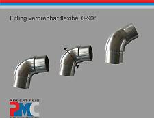 acero inox. Enchufe a presión Doblado cambiables flexible Tubo 42,4/33,7 V2A