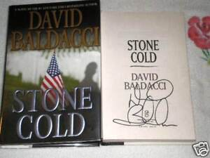 STONE COLD by DAVID BALDACCI  **SIGNED**