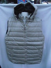 BNWT Mens Sz X Large XL Rivers Stone Padded Lined Zip Vest With Hood RRP $50