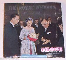 Pochette Stéréo VIEW MASTER 3 Disques : THE ROYAL WEDDING BELGIQUE 1961- Série 1