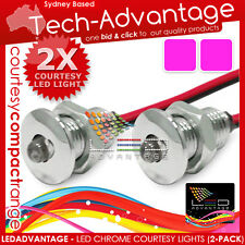 2 X 12V W'PROOF LED BOAT CARAVAN COURTESY PURPLE LIGHTS
