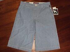 Boys 12 or Girls MAMBO Blue Stripe Pinstripe Long Shorts Adjustable Waist