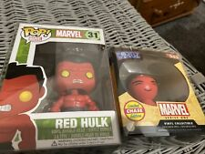 Red Hulk Limited Chase Funko Pop Vinyl Marvel And Dorbz Marvel Universe