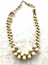 Tagua, Acai Seed Necklace. Handcrafted in Ecuador. Acai Seed Ivory Necklace