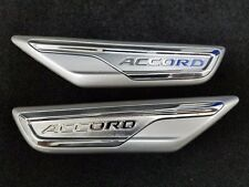 NEW GENUINE HONDA 2018 ACCORD SILVER FENDER EMBLEM SET 08F59-TVA-120