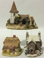 Lilliput Lane Lot~3 Pc~Patterdale Cottage~Wish Day~Greensted Church~Display