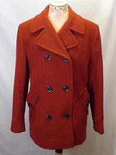 Petite Womens Jones New York Red Wool Cashmere Blend Peacoat Coat Jacket Sz 8P